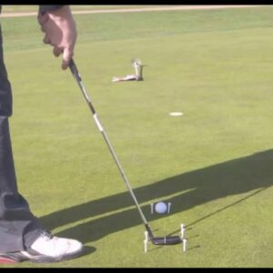Putting Drill with Tee Pegs