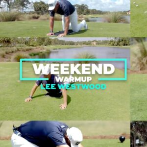 Watch how Lee Westwood gets limber before a round.