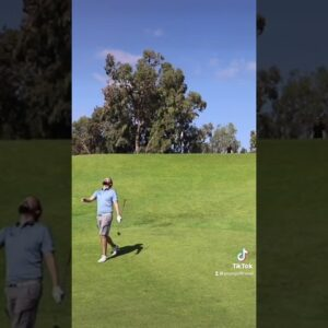 When you have to hole it twice just to make a par…